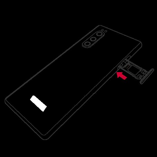 SIMカードを入れる(スマートフォンの場合)